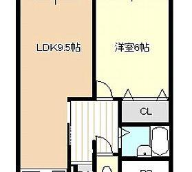 伊賀4丁目マンション(1LDK)間取り