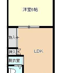 沢田4丁目マンション(1LDK)間取り