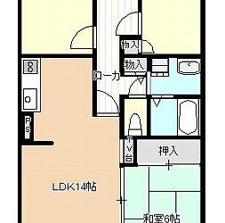 伊賀5丁目マンション(3階)間取り