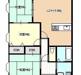 藤ヶ丘3丁目マンション(3F)間取り