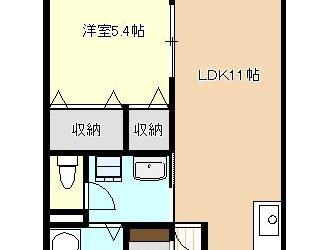 南恵我之荘7丁目アパート(2F)間取り