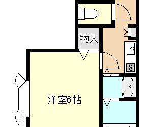 岡1丁目マンション(3階)間取り