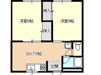 高鷲5丁目マンション(5階)間取り