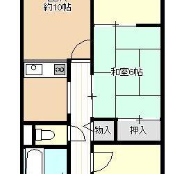上田6丁目マンション(3F・3LDK)間取り