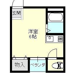 上田5丁目マンション(3F)間取り