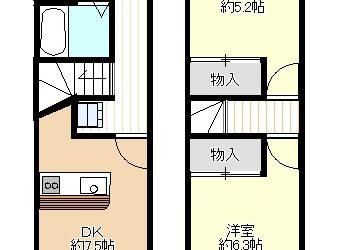 樫山アパート(2階建)間取り