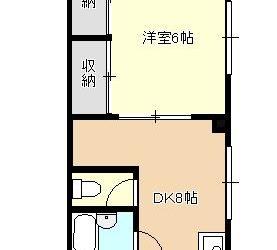 上田1丁目マンション(1DK)間取り