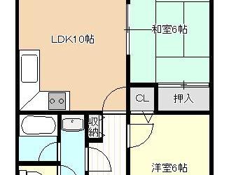 島泉9丁目マンション(6F)間取り