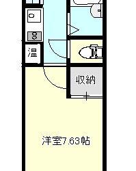 栄町マンション(1階-1K)間取り