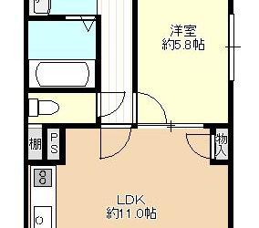 藤井寺1丁目マンション(1階)間取り