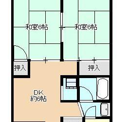 藤井寺1丁目マンション(5階)間取り