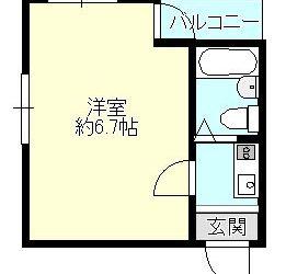伊賀2丁目マンション(1K)間取り