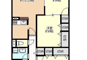 島泉7丁目マンションン(3LDK)間取り