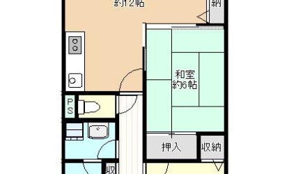 島泉7丁目マンションン(3階)間取り