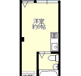 沢田1丁目マンション(3階)間取り