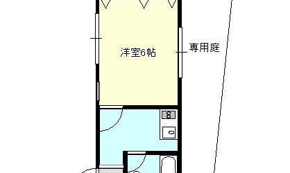 沢田1丁目マンション(1階)間取り