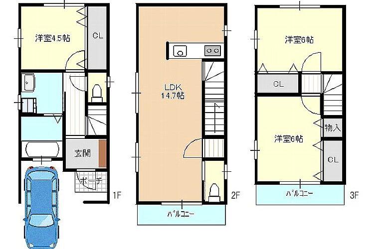 高見の里6丁目新築戸建(3階建)画像1