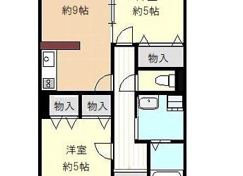 三宅中1丁目マンション(4階)間取り