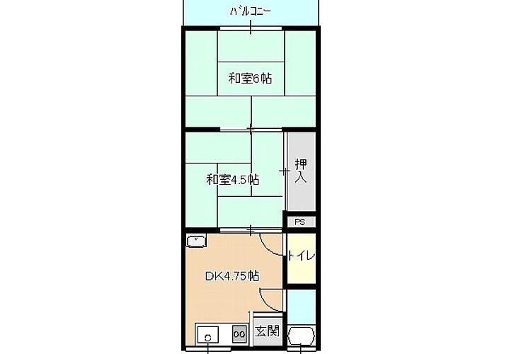 野中5丁目アパート(2DK)画像1