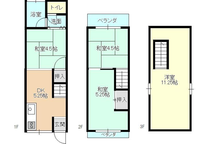 三宅西2丁目貸家(3階建)画像1