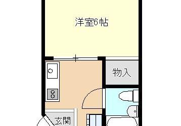 上田7丁目マンション(1K)間取り