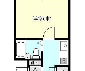 碓井4丁目マンション(1K)間取り