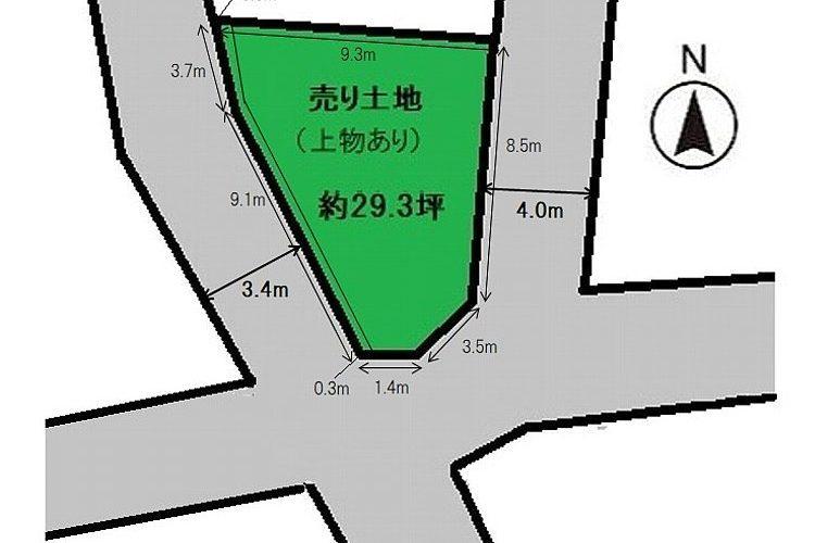 南恵我之荘2丁目売り土地画像1