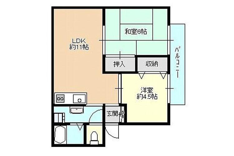伊賀6丁目ハイツ(2LDK)画像1