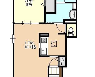 西野々1丁目新築アパート(1階)間取り