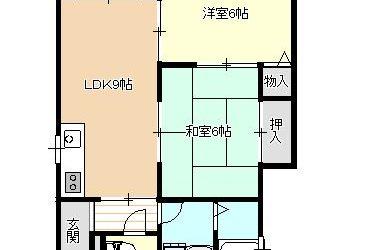 伊賀2丁目アパート(2DK)間取り