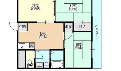 島泉4丁目マンション(3DK)間取り