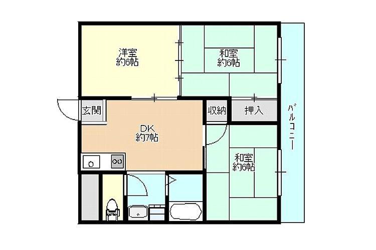 島泉4丁目マンション(3DK)画像2
