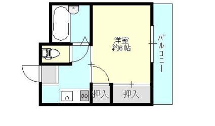 青山1丁目マンション(1K)間取り