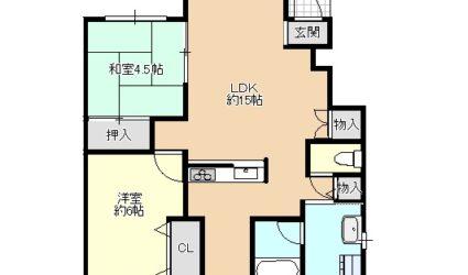 柴垣2丁目アパート(2LDK)間取り