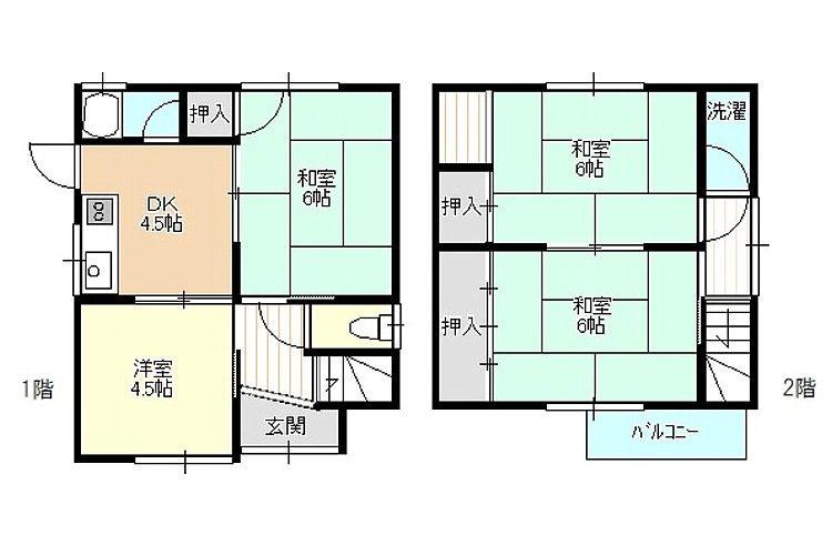恵我之荘5丁目貸家(4DK)画像1