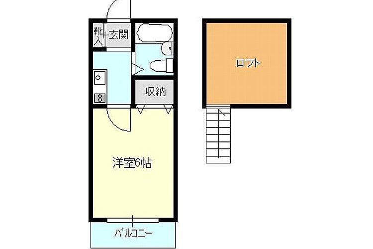 高鷲9丁目アパート(1K)画像2