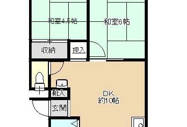 藤井寺市岡1丁目マンション(5階)間取り