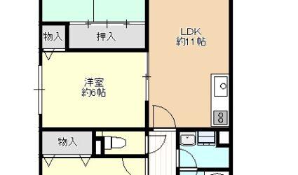 恵我之荘3丁目マンション(4階)間取り
